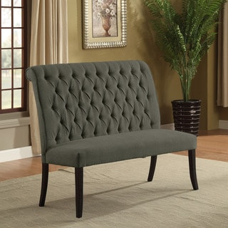 Furniture of America Sheila Contemporary Button Tufted Chenille 2-seater Dining Bench