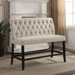 Gracewood Hollow Suyin Contemporary Button Tufted Chenille Counter Height 2-seater Bench (4 options available)