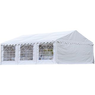 ShelterLogic Steel and Fabric Party Tent and Enclosure Kit with Windows