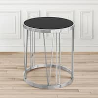 Thea Metal Black Round End Table