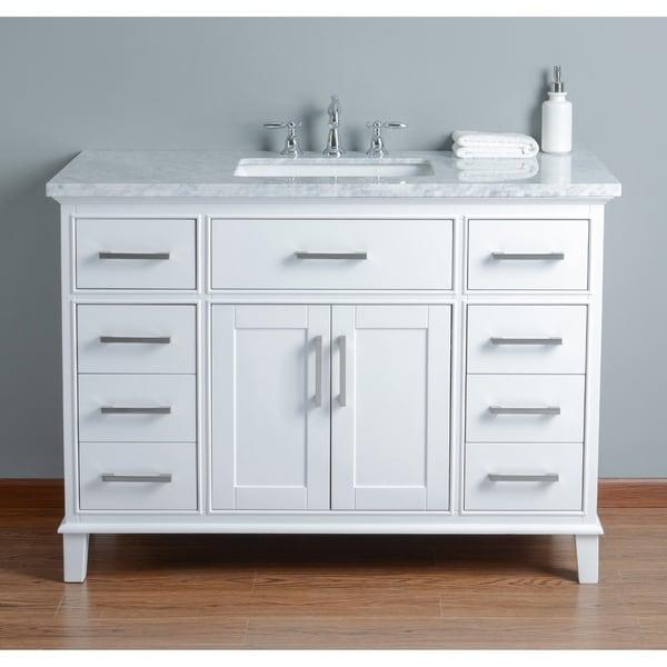 Shop Stufurhome Leigh 48 In White Single Sink Bathroom