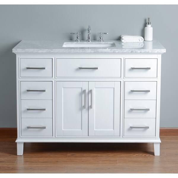 Shop Stufurhome Leigh 48 In White Single Sink Bathroom Vanity Overstock 16798884,Paper Shredder Reviews Nz