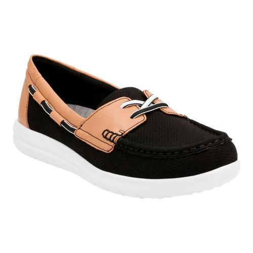 2432119f1 Shop Women s Clarks Jocolin Vista Boat Shoe Black Perforated Textile - On  Sale - Free Shipping Today - Overstock - 14237029
