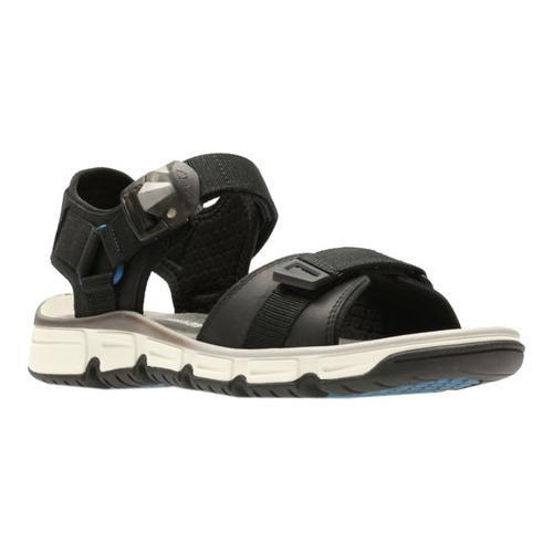2b64d73129fb Shop Men s Clarks Explore Part Walking Sandal Black Nubuck Leather - Free  Shipping Today - Overstock.com - 14236982