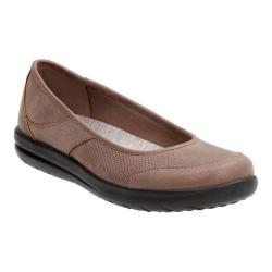 Women's Clarks Jocolin Myla Ballet Flat Pewter Perforated Textile