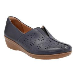 Women's Clarks Everlay Dairyn Loafer Navy Cow Full Grain Leather