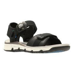 Men's Clarks Explore Part Walking Sandal Black Nubuck Leather