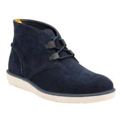 Men's Clarks Fayeman Hi Chukka Boot Navy Cow Suede