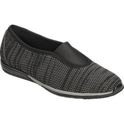 Women's Aerosoles Upper Level Slip On Shoe Black Combo Fabric