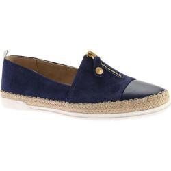 Women's Anne Klein Zipdown Sneaker Dark Blue/Multi Nubuck
