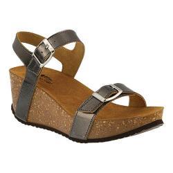Women's Spring Step Shiri Quarter Strap Sandal Pewter Leather
