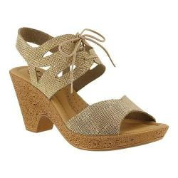 Women's Spring Step Gerberas Heeled Sandal Beige Leather