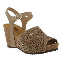 Women's Spring Step Lauralyn Quarter Strap Sandal Beige Suede (More options available)