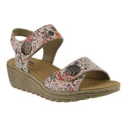 Women's Spring Step Luciana Quarter Strap Sandal Pink Multi Leather