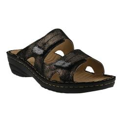 Women's Spring Step Marsela Slide Black Leather