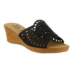 Women's Spring Step Martha Slide Black Leather