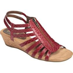 Women's A2 by Aerosoles Yetaway Red Snake Printed Faux Leather