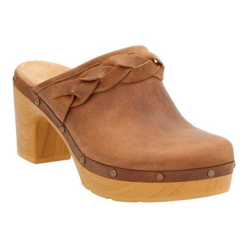 c352774ebb8 Shop Women s Clarks Ledella Meg Clog Light Tan Cow Full Grain Leather -  Free Shipping Today - Overstock - 14272052