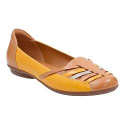 Women's Clarks Gracelin Gemma Loafer Tan/Yellow Combination Cow Full Grain Leather