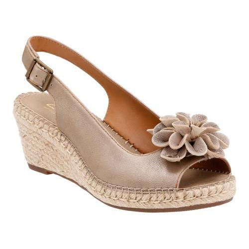 fb1b8791278a Shop Women s Clarks Petrina Bianca Espadrille Slingback Champagne Metallic  Goat Full Grain Leather - Free Shipping Today - Overstock - 14272100