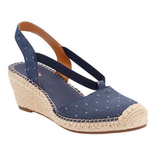 c977a0460bd12 Shop Women's Clarks Petrina Kaelie Closed Toe Slingback Navy Textile - Free  Shipping On Orders Over $45 - Overstock - 14272102