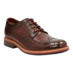 Men's Clarks Melshire Wing Tip Oxford Cognac Buffalo Leather