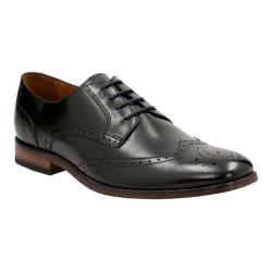 Men's Clarks Narrate Wing Tip Oxford Black Cow Full Grain Leather