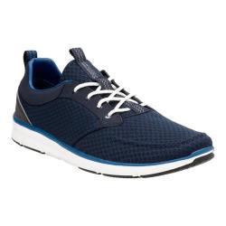 Men's Clarks Orson Fast Sneaker Navy Combination Mesh