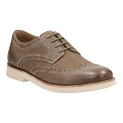 Men's Clarks Pariden Wing Tip Oxford Olive/Taupe Cow Nubuck