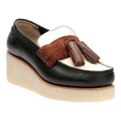 Women's Clarks Peggy Grace Loafer Black Combination Leather
