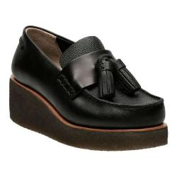 Women's Clarks Peggy Grace Loafer Black Leather