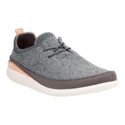 Men's Clarks Pitman Run Lace Up Shoe Grey Textile