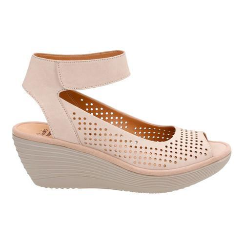 22e911cbe4 ... Thumbnail Women's Clarks Reedly Salene Wedge Ankle Strap Sand Goat  ...