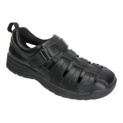 Men's Drew Dublin Fisherman Sandal Black Leather