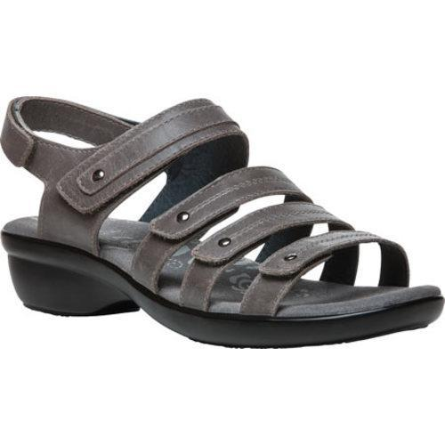 1d96103f6522 Shop Women s Propet Aurora Strappy Slingback Sandal Grey Full Grain Leather  - Free Shipping Today - Overstock.com - 14272159