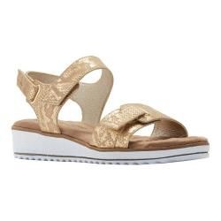 Women's Walking Cradles Halle Slingback Taupe/Gold Leather