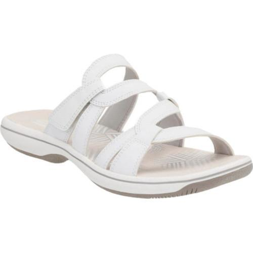 e6d95d1213e Shop Women s Clarks Brinkley Lonna Strappy Sandal White Synthetic II - Free  Shipping On Orders Over  45 - Overstock.com - 14283606