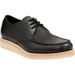 Men's Clarks Burcott Field Moc Toe Shoe Black Leather