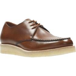 Men's Clarks Burcott Field Moc Toe Shoe Cognac Leather