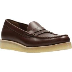 Men's Clarks Burcott Penny Loafer Bordeaux Leather