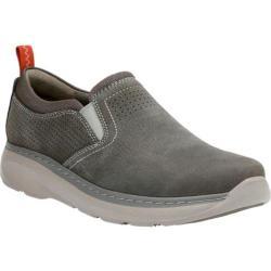 Men's Clarks Charton Free Slip-On Sneaker Grey Cow Nubuck/Textile