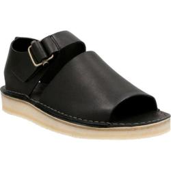 Men's Clarks Trek Strap Sandal Black Leather