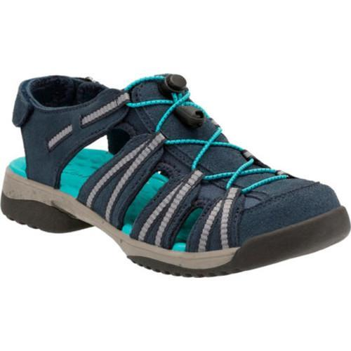 5689cdc0ba7 Shop Women s Clarks Tuvia Maddee Closed Toe Sandal Navy Cow Suede - Free  Shipping Today - Overstock - 14283673