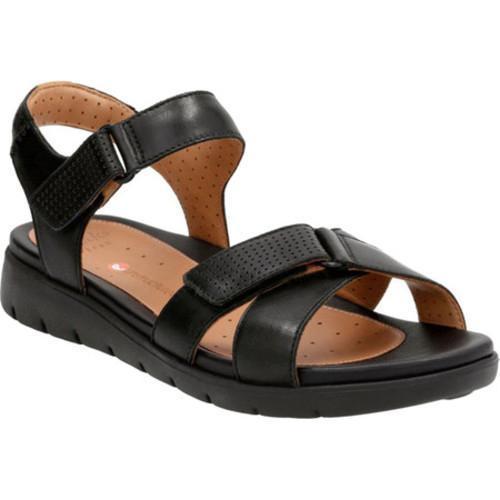 018d3f500c5 Shop Women s Clarks Un Saffron Active Sandal Black Cow Full Grain Leather -  Free Shipping Today - Overstock - 14283681