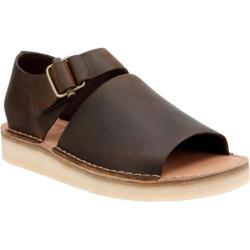 Men's Clarks Trek Strap Sandal Dark Brown Leather