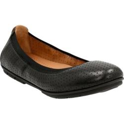 Women's Clarks Un Tract Ballet Flat Black Cow Full Grain Leather