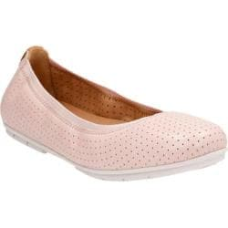 Women's Clarks Un Tract Ballet Flat Nude Pink Cow Full Grain Leather