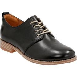 Women's Clarks Zyris Toledo Plain Toe Shoe Black Cow Full Grain Leather