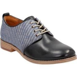 Women's Clarks Zyris Toledo Plain Toe Shoe Navy Cow Full Grain Leather/Textile