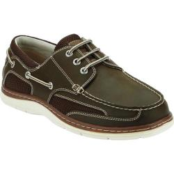 Men's Dockers Lakeport Boat Shoe Dark Tan Leather